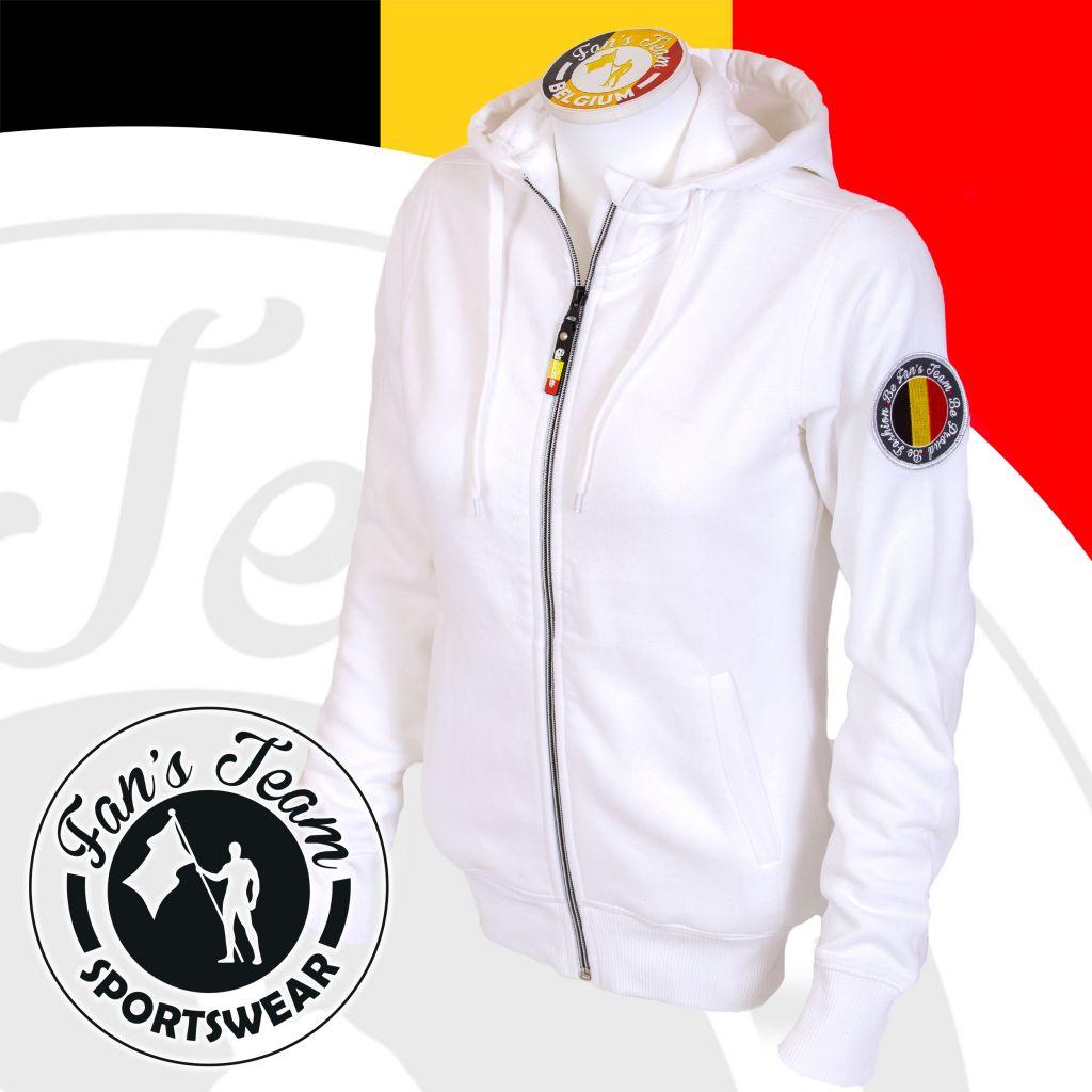 Sweatshirt sport pour femmes   veste à capuche blanche - Vêtement  sportswear femme   Achetez votre tenue sport   chic en ligne abab6823c6f